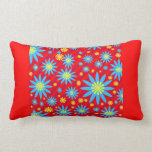 Colorful Florets and stripes  pillow