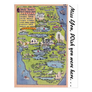Colorful Florida Postcard
