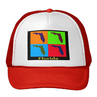 Colorful Florida State Pop Art Map Trucker Hat