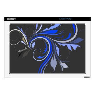 Colorful Flourish (blue) Laptop Decal