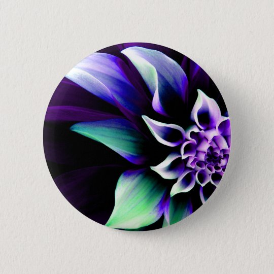 Colorful Flower 3 Button