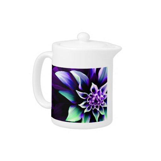 Colorful Flower 3 Teapot