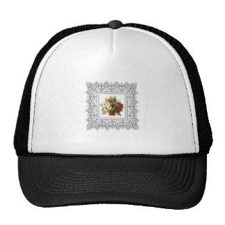 colorful flower basket trucker hat