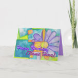 "Colorful Flower Birthday Card<br><div class=""desc"">This bright and festive birthday card is customizable! Add the name of the recipient to the cover and modify the inside text to suit your needs. If you"