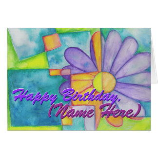 Colorful Flower Birthday Card