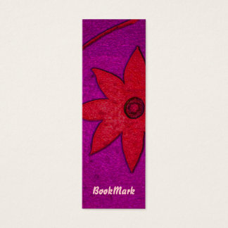 colorful flower bookmark mini business card