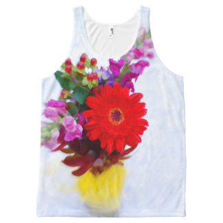 Colorful Flower Bouquet Illustration All-Over Print Tank Top
