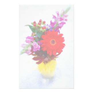 Colorful Flower Bouquet Illustration Stationery