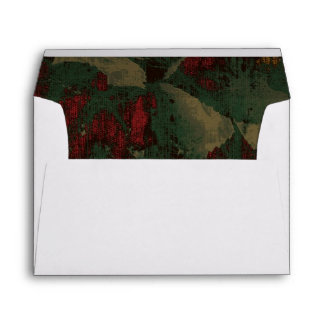 Colorful flower camouflage pattern envelope