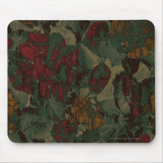 Colorful flower camouflage pattern mouse pad