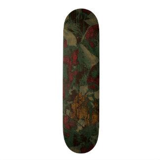 Colorful flower camouflage pattern skateboard deck