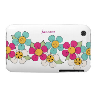 Colorful Flower Chain iPhone 3 Case