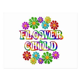 Colorful Flower Child Postcard