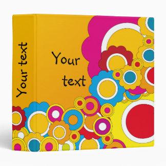 Colorful flower design 3 ring binder