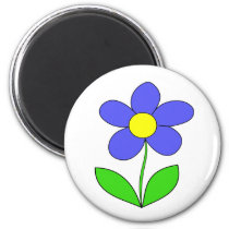Colorful flower design magnet