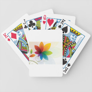 Colorful flower elements poker cards