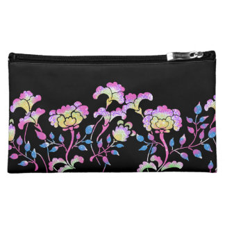 Colorful flower garden cosmetic bag
