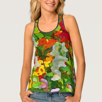 Colorful Flower Garden Floral Tank Top