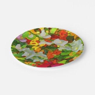 Colorful Flower Garden Paper Plates