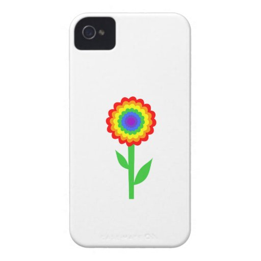 Colorful flower in rainbow colors. iPhone 4 covers