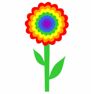 Colorful flower in rainbow colors. photo cut outs