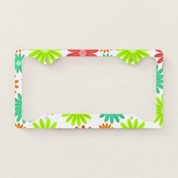 Beach Themed Colorful Flower | License Plate Frame