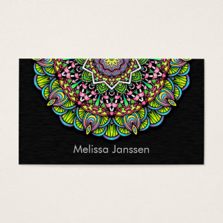 Colorful Flower -Mandala- Business Card
