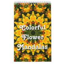 Colorful Flower Mandalas Calendar