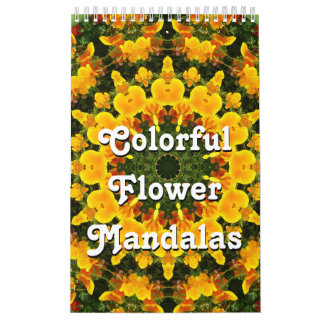 Colorful Flower Mandalas Calendar