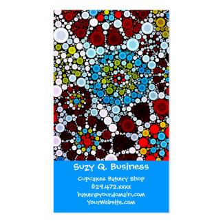 Colorful Flower Mosaic Circles Bubbles Design Business Card