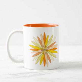 Colorful flower coffee mug