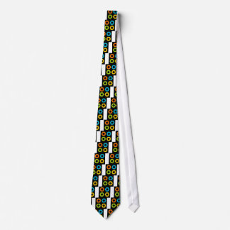 colorful flower neck tie