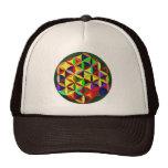 Colorful Flower Of Life Design Trucker Hat