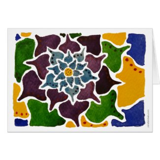 Colorful Flower Painting Card