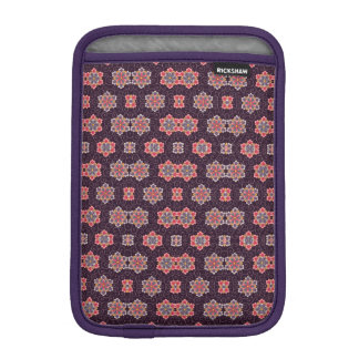 Colorful Flower Pattern on Dark Purple iPad Mini Sleeve