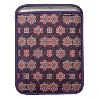 Colorful Flower Pattern on Dark Purple Sleeve For iPads