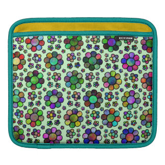 Colorful Flower Pattern Tie Dye Sleeve For iPads