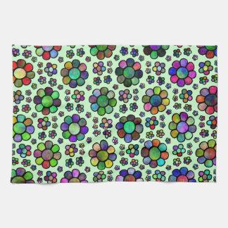 Colorful Flower Pattern Tie Dye Kitchen Towel