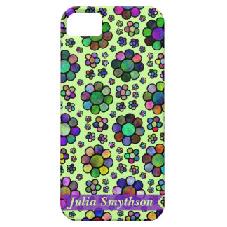 Colorful Flower Pattern Tie Dye Personalized Green iPhone SE/5/5s Case