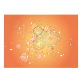 Colorful Flower Pattern Vector Graphic Custom Announcements