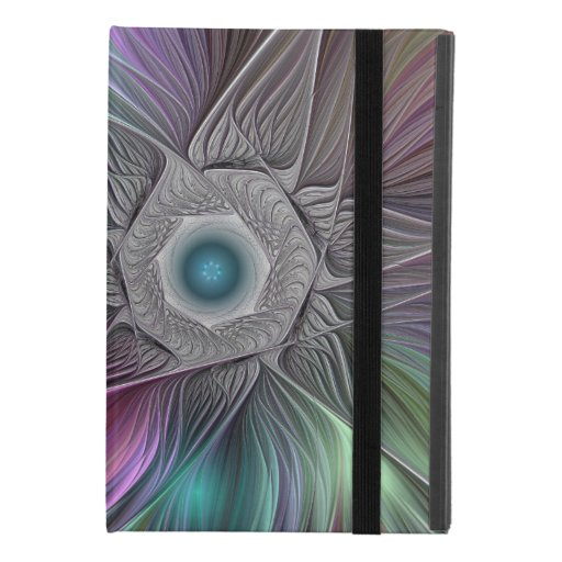 Colorful Flower Power Abstract Modern Fractal Art iPad Mini 4 Case