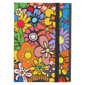 Colorful flower power iPad air cover