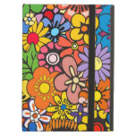 Colorful flower power iPad covers