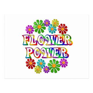 Colorful Flower Power Postcard