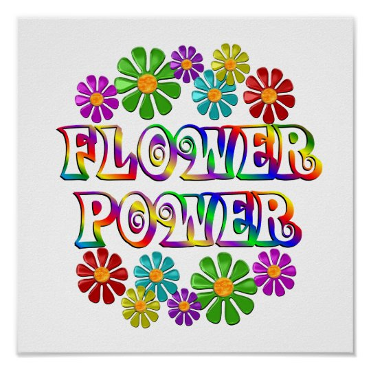 Colorful Flower Power Poster