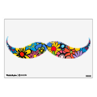 Colorful flower power wall decal
