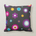 Colorful Flower Print Pillow