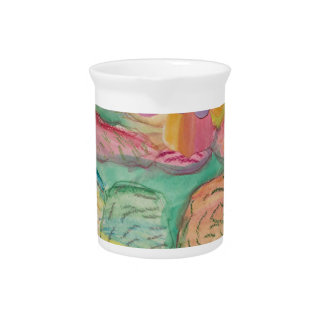 Colorful flower printed items, gifts , fashion. pitcher