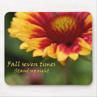 Colorful flower quote mousepads unique