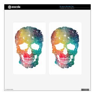 Colorful Flower Skull Kindle Fire Skins